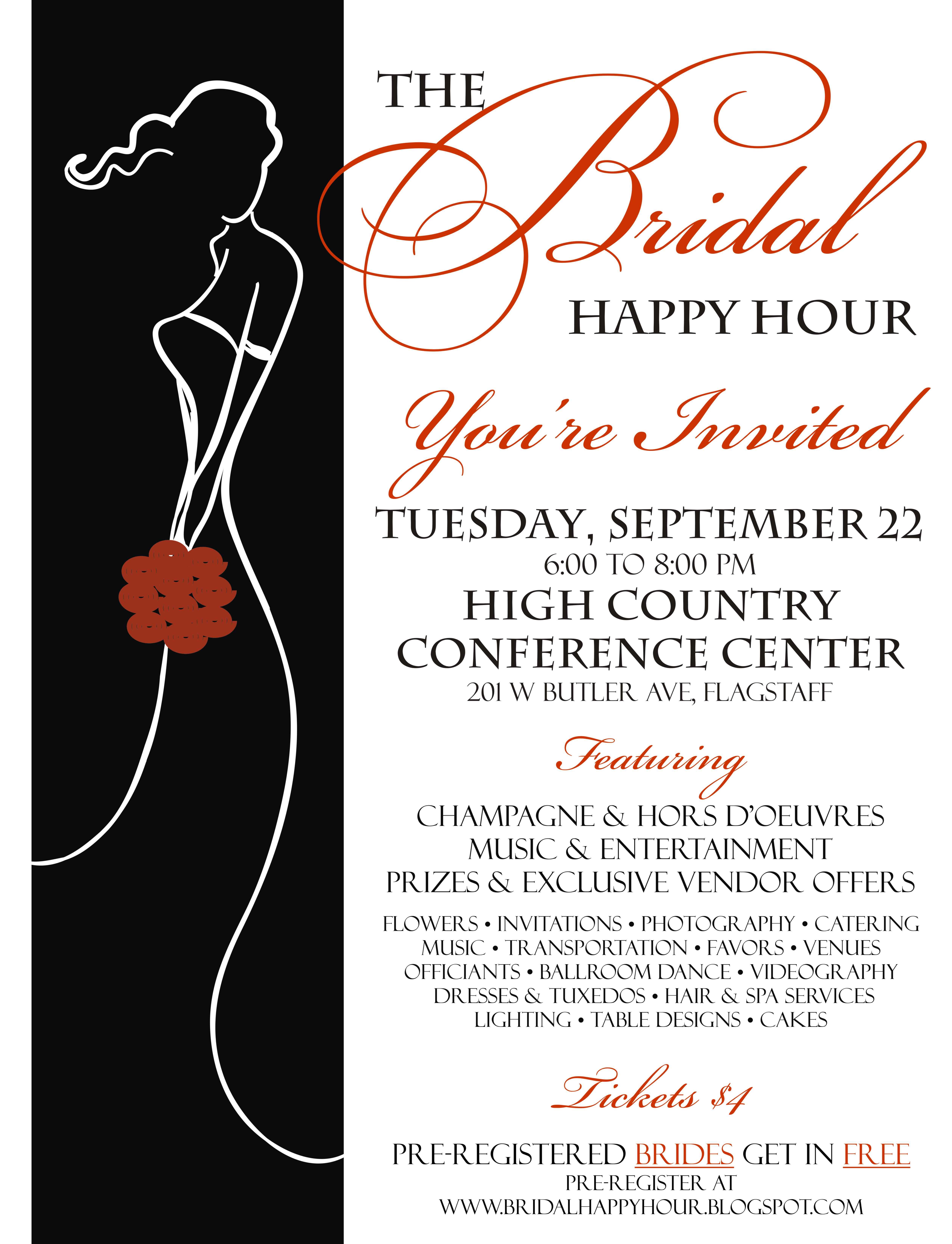 about memories more bridal ideas bridal happy hour flyer